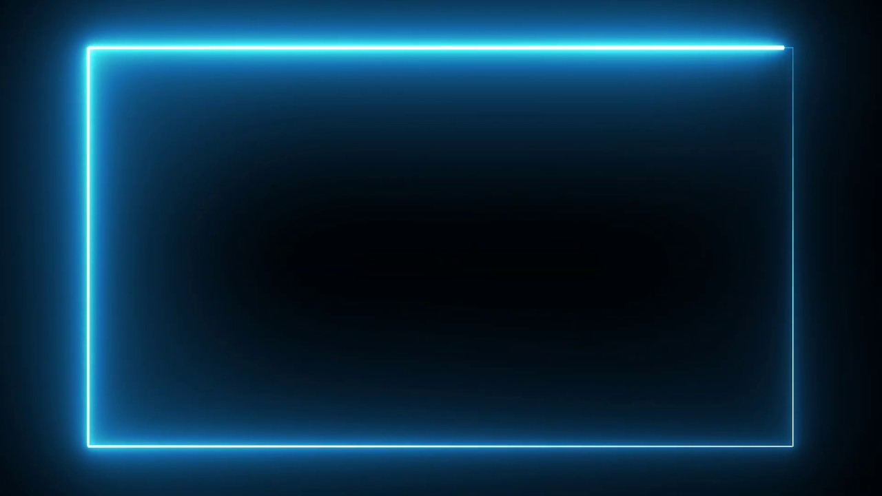 Motion Made Free Neon Lights Rectangle Frame Animated Loop Background Youtube