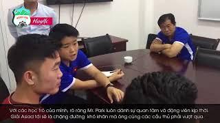 HLV Park Hang Seo gap Xuan Truong & hoi tham Cong Phuong