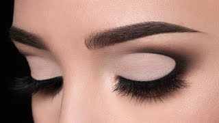 half moon shaped smokey eye makeup tutorial
