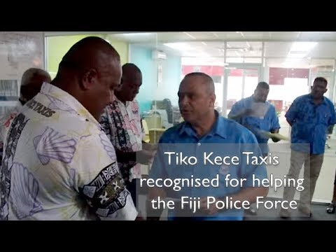 Tiko Kece Taxis recognised for helping the Fiji Police Force