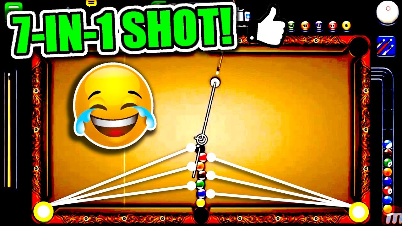 7 BALLS IN 1 SHOT! | The Best Trickshot in 8 Ball Pool History? - 1 Shot  Win!