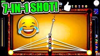 7 BALLS IN 1 SHOT! | The Best Trickshot in 8 Ball Pool History? - 1 Shot Win!