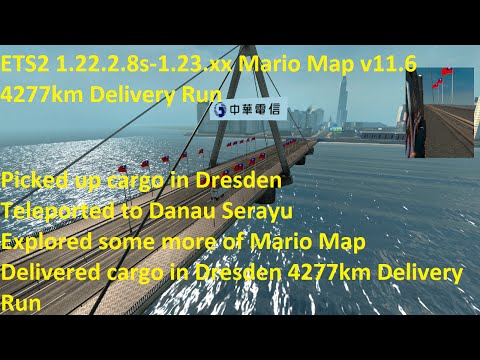 ETS2 1.22.2.8s - 1.23.x.x Mario Map v11.6 4277km Delivery Run