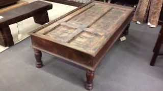 Coffee Tables And Trunks Made From Wood That's New, Antique And Recycled / Reclaimed