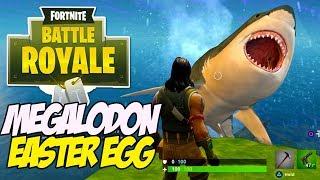 Fortnite Battle Royale MEGALODON Easter egg - Giant Shark found!