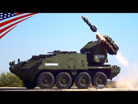 """【ストライカー特集】新型""""防空モデルMSL""""・戦車砲・30mm砲などストライカー装甲車の映像満載!"""