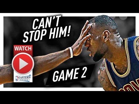 LeBron James Full Game 2 Highlights vs Celtics 2017 Playoffs ECF - 30 Pts, 7 Ast in 3 Qtrs, NASTY!
