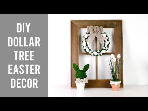 DIY DOLLAR TREE EASTER  HOME DECOR