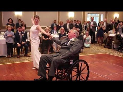 Balla con il papà malato di cancro nel giorno del suo matrimonio