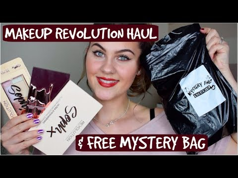 MASSIVE Makeup Revolution Haul & Free Mystery Bag