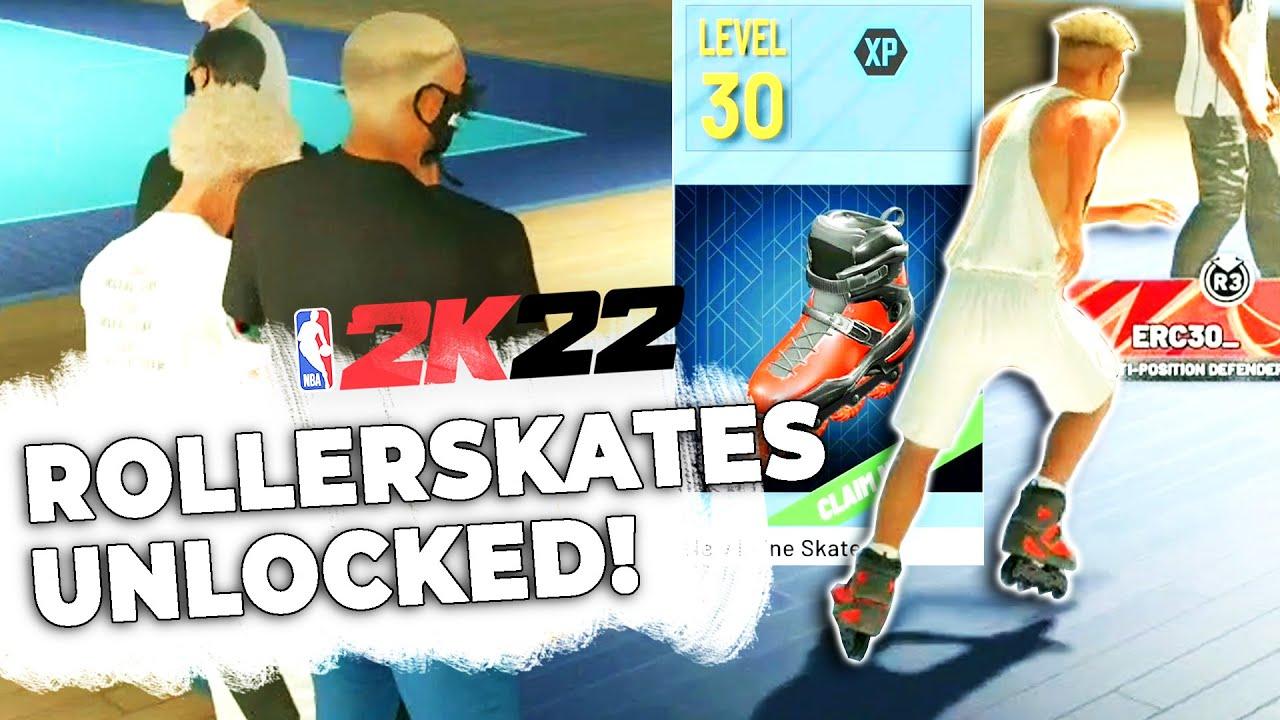 I GOT LEVEL 30 AND UNLOCKED ROLLERSKATES in NBA 2K22! NEW REP REWARD REACTION!