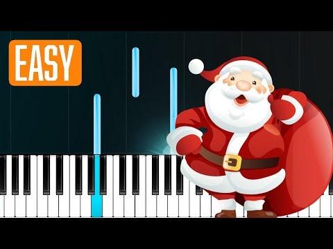 Feliz Navidad - Christmas Song 100% EASY PIANO TUTORIAL