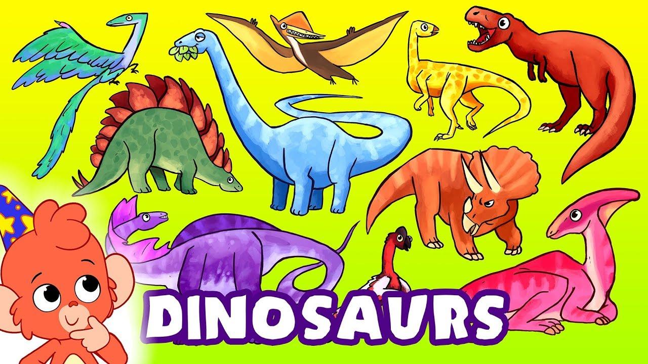Learn Dinosaurs For Kids Learning Dinosaur Names For Children T Rex Stegosaurus Youtube