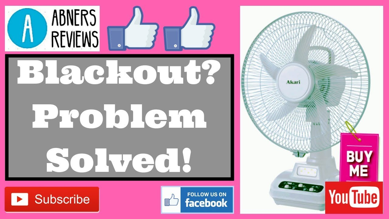 Akari Arf 5313f Rechargeable 12 Oscillating Fan Youtube