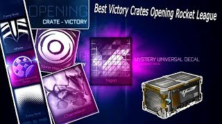 Best Victory Crates Opening Rocket League