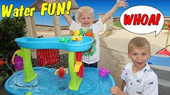 Playtime! Step2 Rain Showers Splash Pond Waterfall Water Table & Roller Coaster Fun