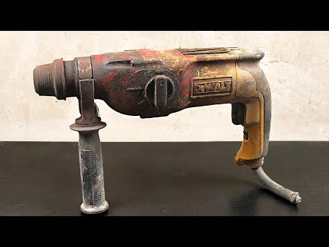 Rotary Hammer Drill Restoration DeWalt D25113 Rotor Replace