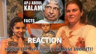 10+ INCREDIBLE FACTS ABOUT APJ ABDUL KALAM / DR. APJ JAYANTI / AMERICANS REACTION