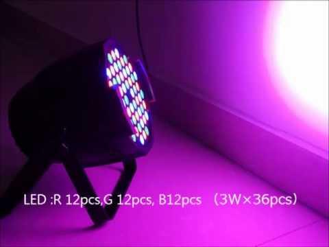 Led Par64 36 3w Rgb Led Par Can Light Professional Stage Lighting Sales Yeskylighting Com