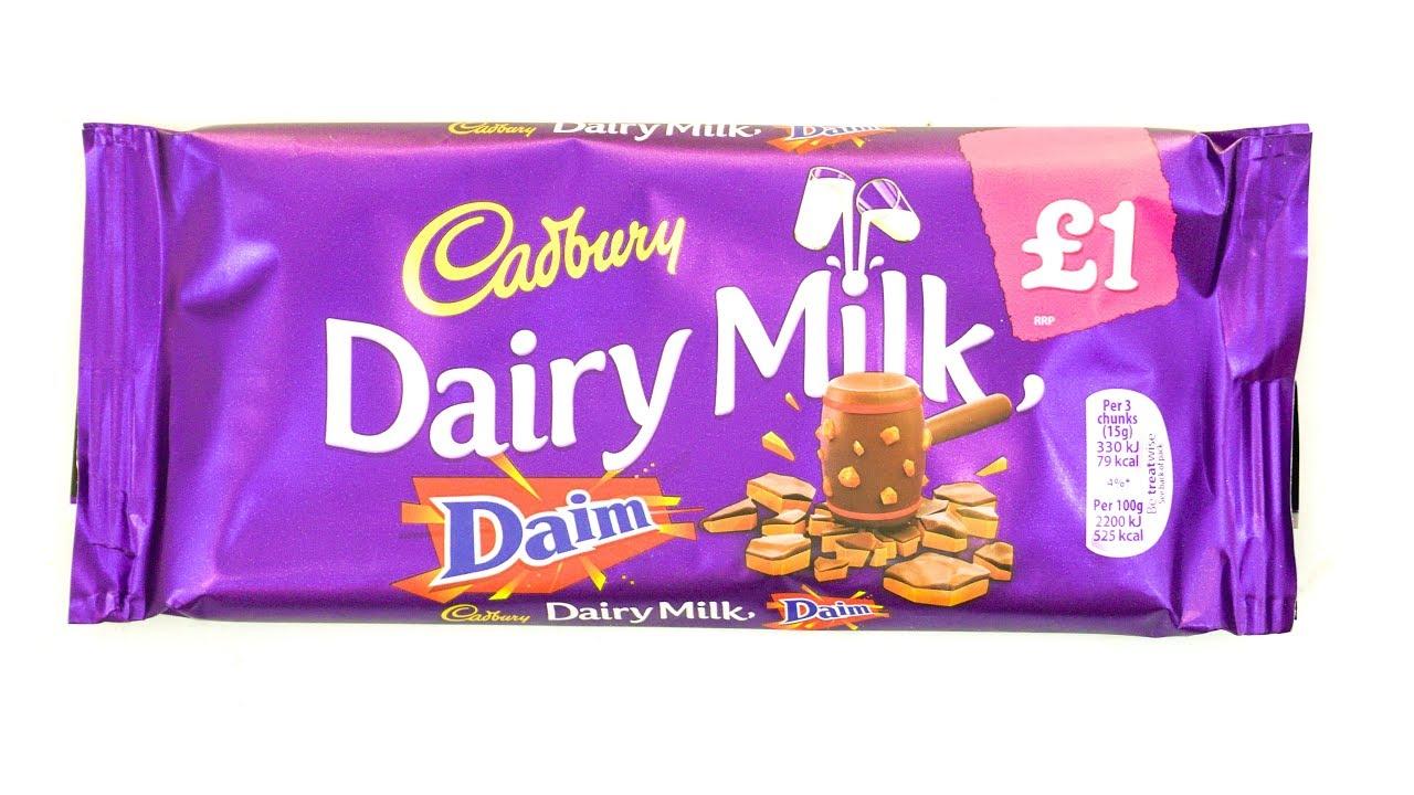 cadbury dairy milk daim new cadbury chocolate   youtube