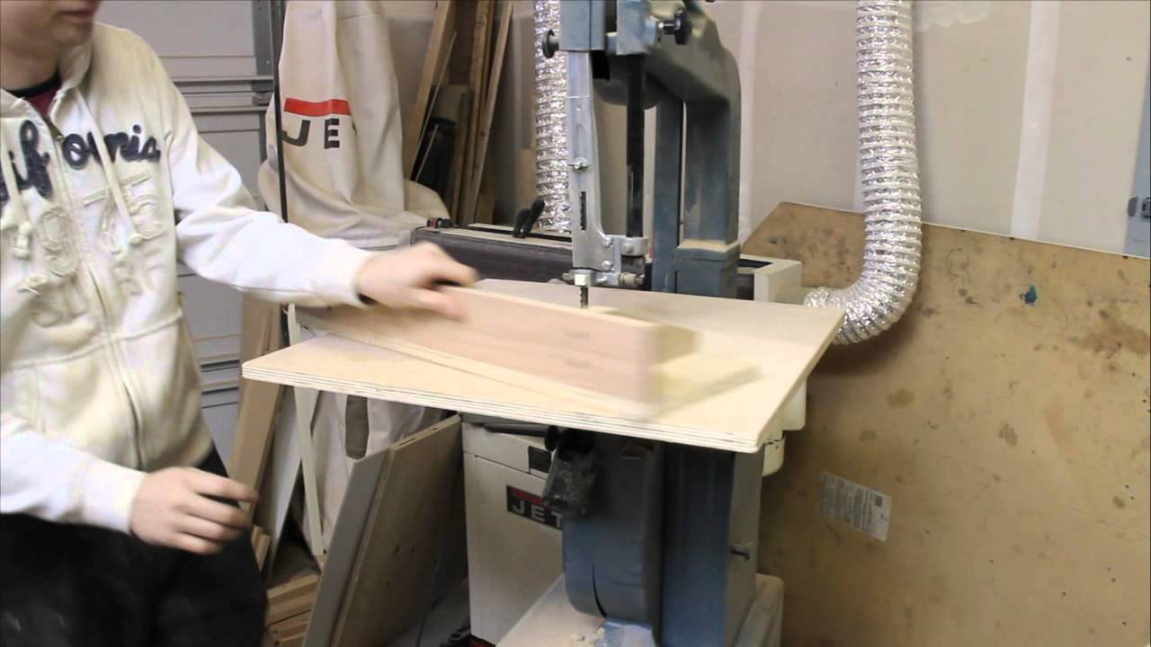 How To Make A Table Top And A Fense For Your Bandsaw Youtube