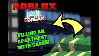 Roblox: CAN WE FILL AN ENTIRE APARTMENT WITH JAILBREAK CASH?!?!?!? | Livestream