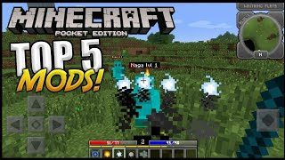 TOP 5 MODS (Addons) PARA MINECRAFT PE 1.4 - 1.6 !!