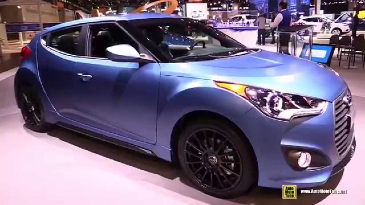 2016 hyundai veloster rally edition exterior and interior walkaround 2015 chicago auto show. Black Bedroom Furniture Sets. Home Design Ideas