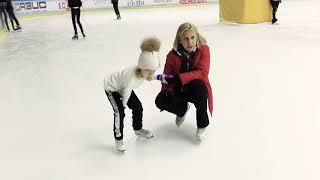 Первыи раз на коньках Фигурное катание каток Видео для детеи