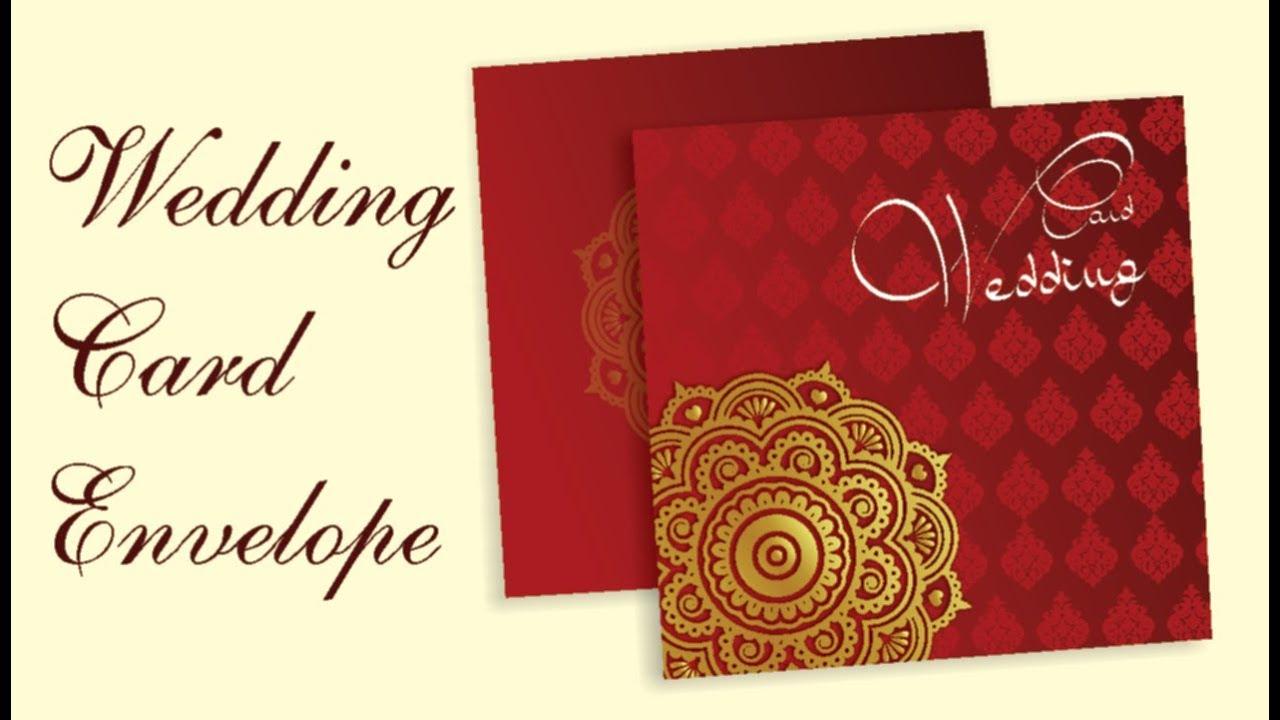 Coreldraw Tutorial Wedding Card Envelope Design YouTube
