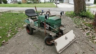 DIY Electric Lawn Tractor part 12: Moving Gravel