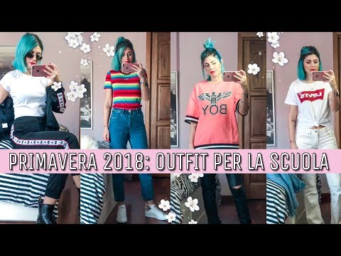 MODA PRIMAVERA 2018: Outfit tumblr per la scuola 👽