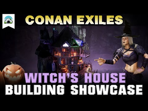 Halloween Witch House - Building Showcase | Conan Exiles |
