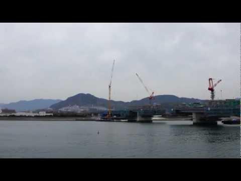 【建設中】広島高速3号線(広島南道路)観音地区の様子。2013年3月