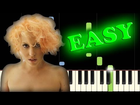 LADY GAGA - BAD ROMANCE - Easy Piano Tutorial