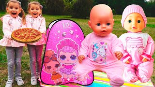 Куклы беби бон Настя Как няня для пупсиков  Видео для детей Как Мама / Magic Twins