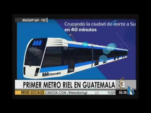 Proponen construir primer metro riel en Guatemala