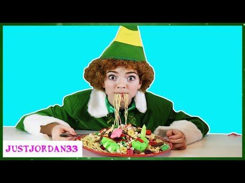 Buddy The Elf SPAGHETTI Challenge / JustJordan33