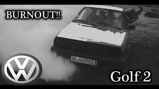 Vw Golf II Burnout!