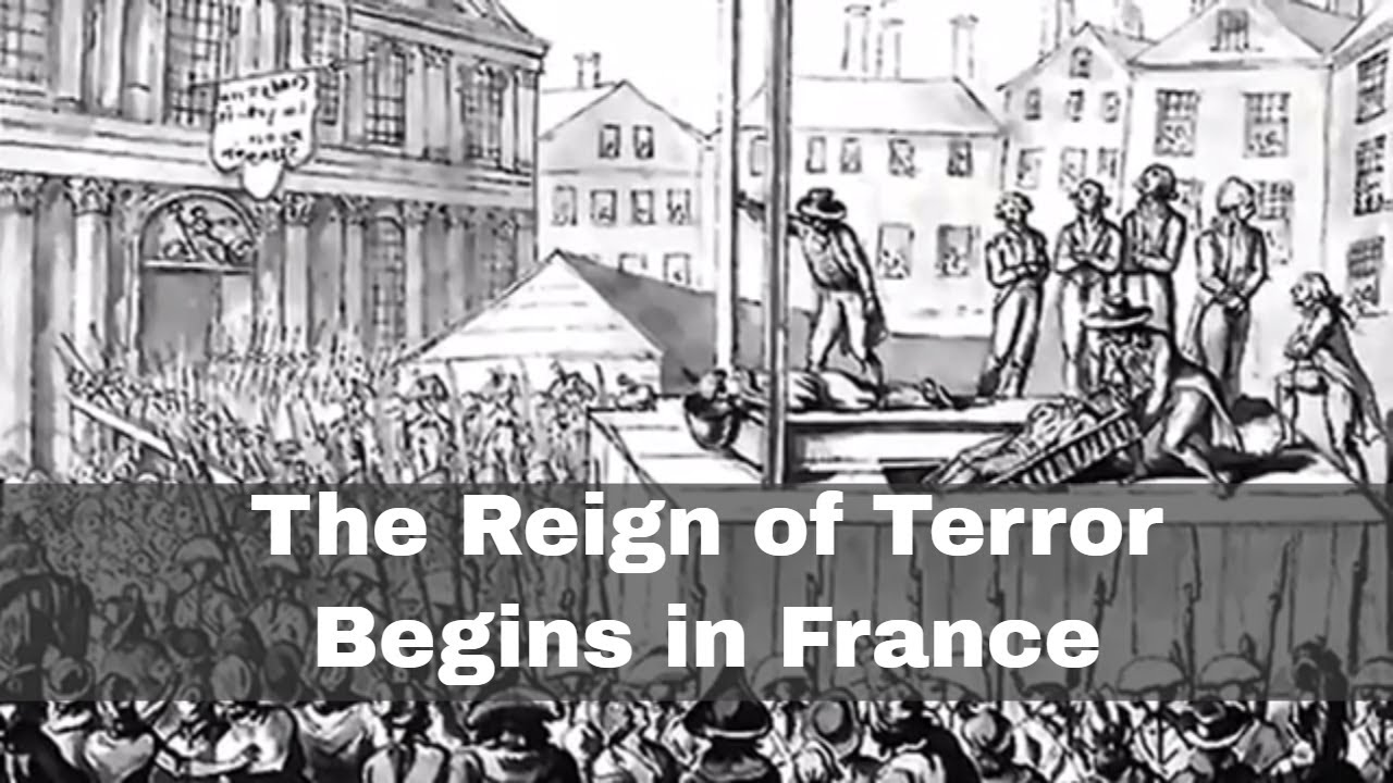 5th september 1793 the reign of terror begins in france