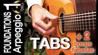 FOUNDATIONS - Arpeggio 1 | Flamenco/Classical Guitar Lesson (TABS) | Diego de Oro