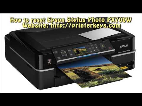 Reset Epson Stylus Photo PX700W Waste Ink Pad Counter