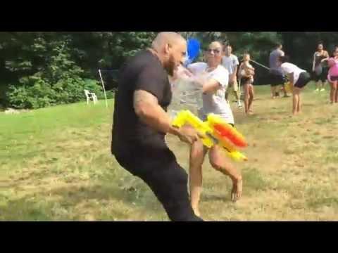 Water Balloon Water Gun Fight Youtube