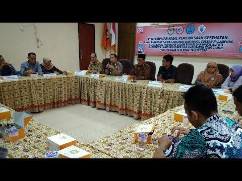 IDI Serahkan Hasil Kesehatan 19 Balon Peserta Pilkada Di Lampung