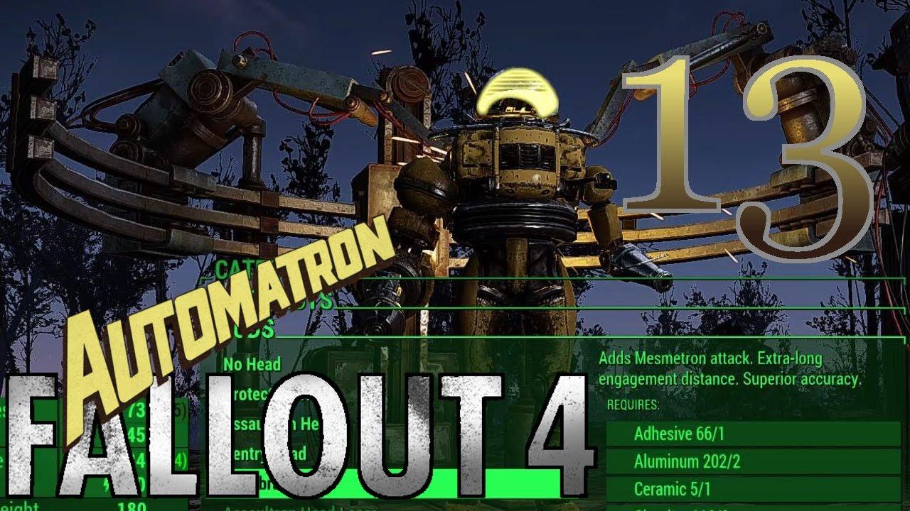 Fallout 4 [Figuring Out the Ammunition Workbench] - #13 - Survival + Mods  (Automatron DLC) 60fps