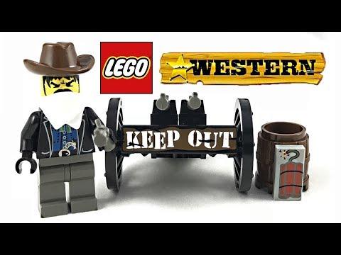 LEGO Western Bandit's Wheelgun review! 1997 polybag 6791!