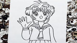 Como dibujar a sakura | how to draw sakura card captor | como desenhar sakura card captors