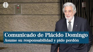 Ahora Plácido Domingo aceptó su responsabilidad en denuncias por acoso y pidió perdón