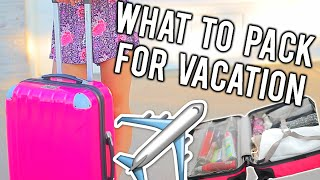 What To Pack For Vacation + Tips and Tricks! | Breezylynn08