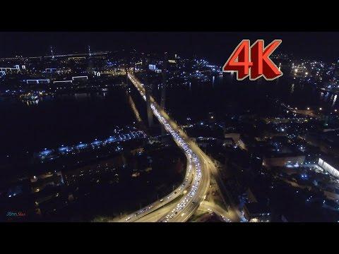 Night flight over Vladivostok 2015 (4K) / Ночной полёт над Владивостоком 2015 (4K)